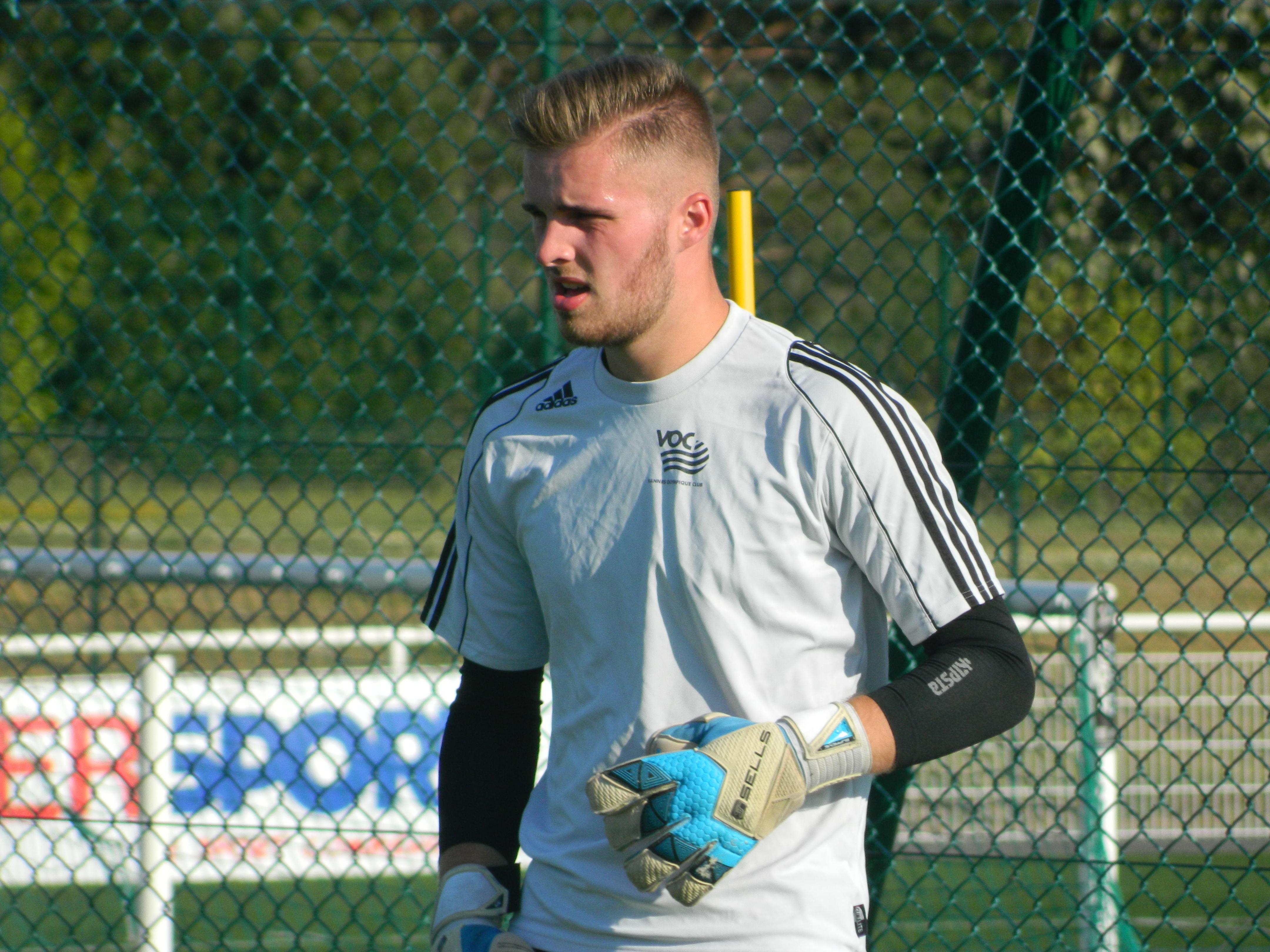 Evan Dreau, gardien U19 au Vannes OC